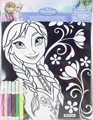 Disney Frozen Velvet Coloring Sheet with Markers