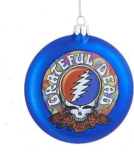 Kurt Adler GD4143 Grateful Dead Ornament, 100mm, Blue