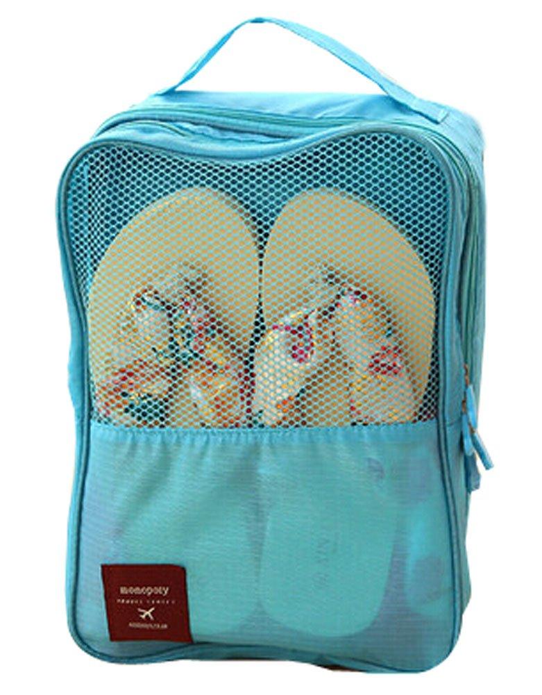 ポータブル防水旅行靴トートバッグ靴バッグスカイブルー( Hold 3ペアの靴)   B00Z9POXEA