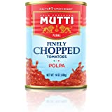Mutti —14 oz. 12 Pack of Finely Chopped Tomatoes from Italy's #1 Tomato Brand. Adds fresh taste to recipes calling for Crushe