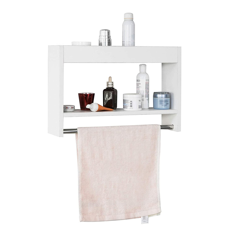 SoBuy FRG240 W Wandregal Handtuchregal Handtuchhalter zur