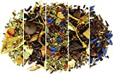 Yerba Mate Tea Sampler Assortment – Set of 5 Gourmet Loose Leaf Tea Sample Sizes – Great Gift Ideas and Coffee Substitute