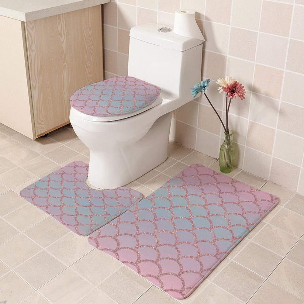 Wwddvh Badezimmer Teppich Toilette Badezimmer Toilette Teppich