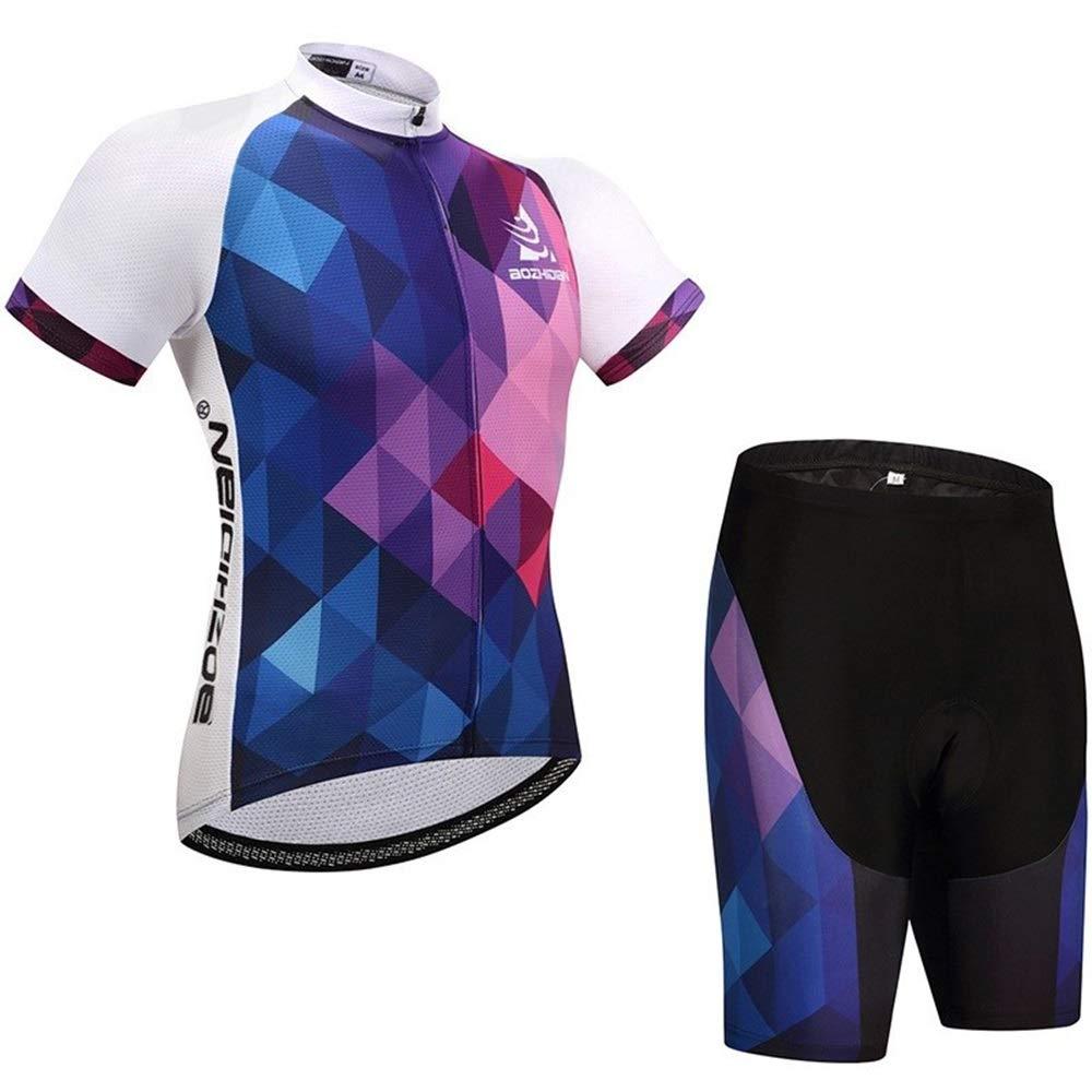 YHW-Jerseys-0911 Trikots Fahrradtrikot for Herren und Damen Kurzarmtrikot Schnelltrocknende, feuchtigkeitsableitende Radtrikot-Laufbekleidung YHWCUICAN (Color : 1, Size : L)