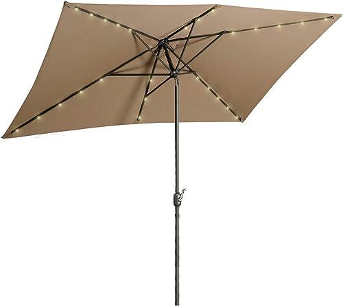Aok Garden 6.5 10 ft Rectangular Patio Umbrella