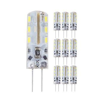 Bloomwin-10 X G4 Cristal LED Bombilla 15W Halógena Equivalencia DC