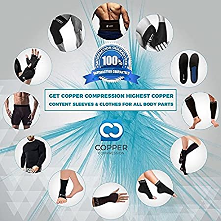 Forearm Basketball Shooter Sleeve Also Great for Volleyball Elbow Brace Copper Compression Arm Sleeve for Men and Women Guaranteed Highest Copper Infused Fit Sleeves for Arms Sports Baseball