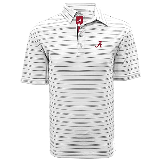 8ba2f67f Levelwear LEY9R NCAA Alabama Crimson Tide Men's Deion Banner Stripe Polo,  Small, White/