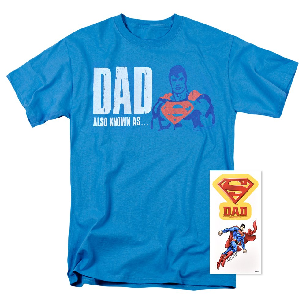 13acc48e Superman Superdad Logo T shirt has lasting durability, 100% cotton, and  unisex adult ; our designs are printed on the highest quality national  brand T ...