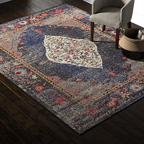 Amazon Brand Rivet Distressed Color Medallion Area Rug