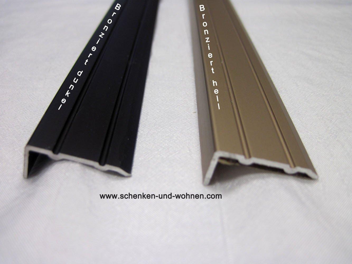 Winkelprofil 1 m sk 10x24,5mm Aluminium Bronze dunkel
