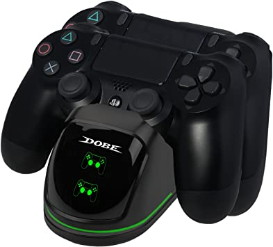 Base de Carga para Controlador PS4, Estación de Cargador Dual para Sony PlayStation 4 / PS4 Slim / PS4 Pro Controlador de Juegos Inalámbrico Gamepad: Amazon.es: Electrónica