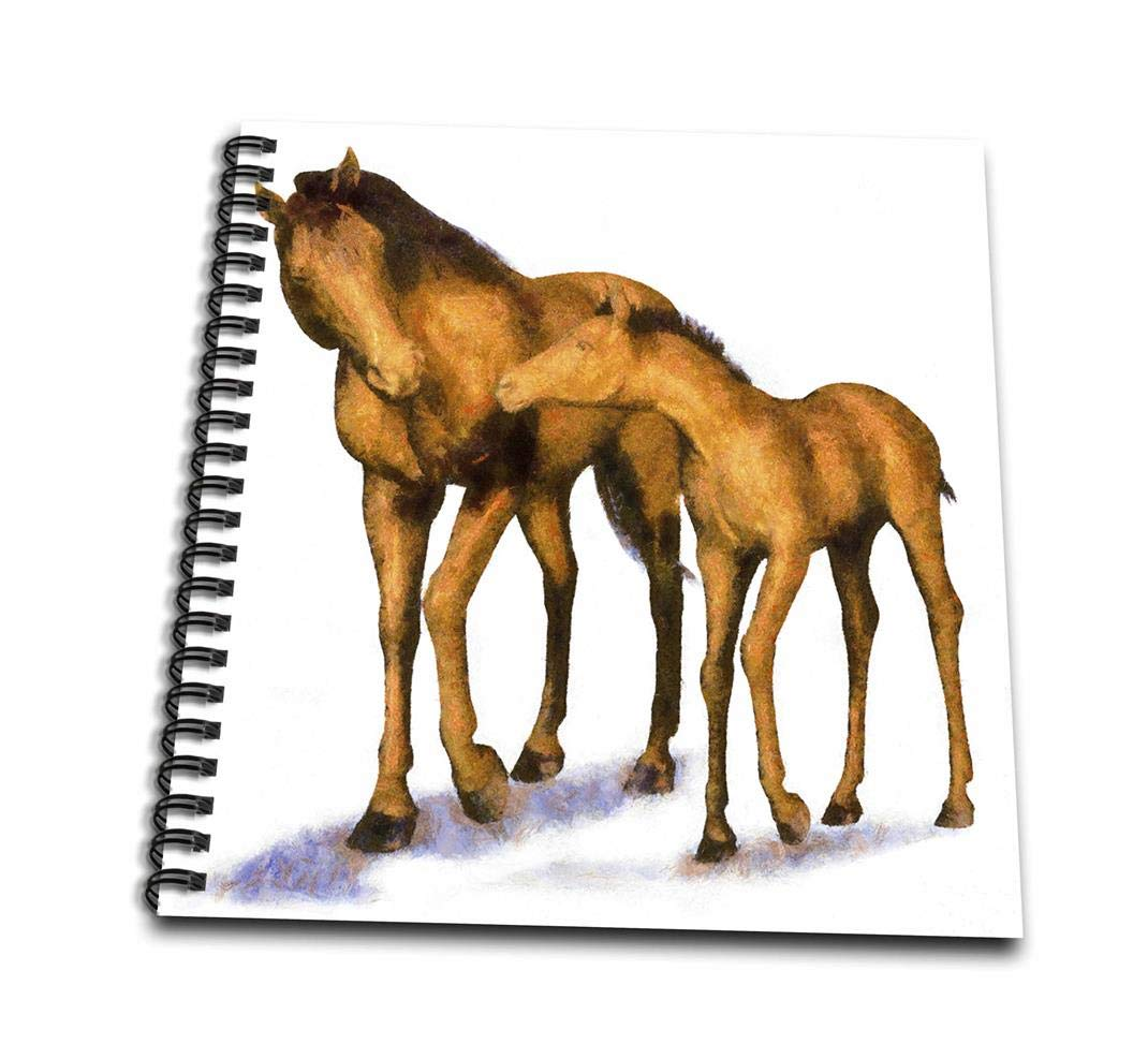 3dRose db/_40586/_2 Mother and Child Horses-Memory Book 12 by 12