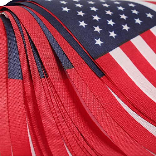 DDMY US Flag, American String Pennant Banners, 36 Feet 40 Flags for 4th of July Independence Day Party Decoration, Festival, Holiday Garden Decoration