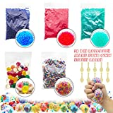 ELifeBox Water Beads Set, Rainbow/Green/Blue/Red Small Water Beads, Rainbow Large Jumbo Water Beads, 10 Balloons for DIY Stress Ball, Mixed Jelly Beads Water Gel Balls,Sensory Toys and Decoration