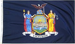 product image for Annin Flagmakers Model 143870 New York State Flag 4x6 ft. Nylon SolarGuard Nyl-Glo 100% Made in USA to Official State Design Specifications.