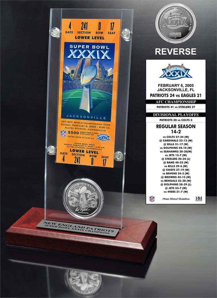 Super Bowl 39 Ticket & Game Coin Collection Highland Mint