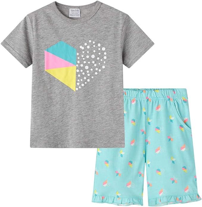 Pijamas Dos Piezas Bebe Niño, Morbuy Conjunto de Pijamas Niña Algodón Camisetas y Pantalones Conjunto de Camisa de Verano de Manga Corta 2-6 Años: Amazon.es: Ropa y accesorios
