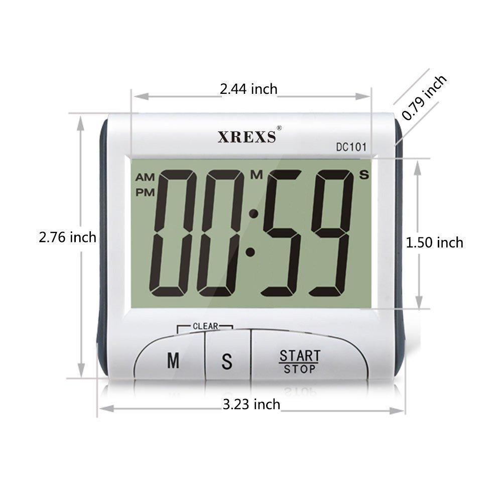 Amazon.com: XREXS Large Display Countdown Up Timer Clock Digital ...