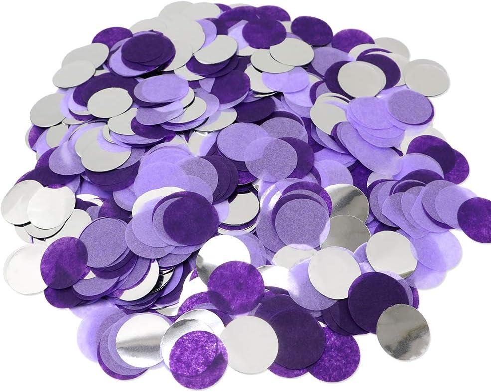 VCOSTORE Confeti de mesa de papel, 5000 piezas de confeti de fiesta de puntos redondos de seda para globos de boda, fiesta de cumpleaños decoración