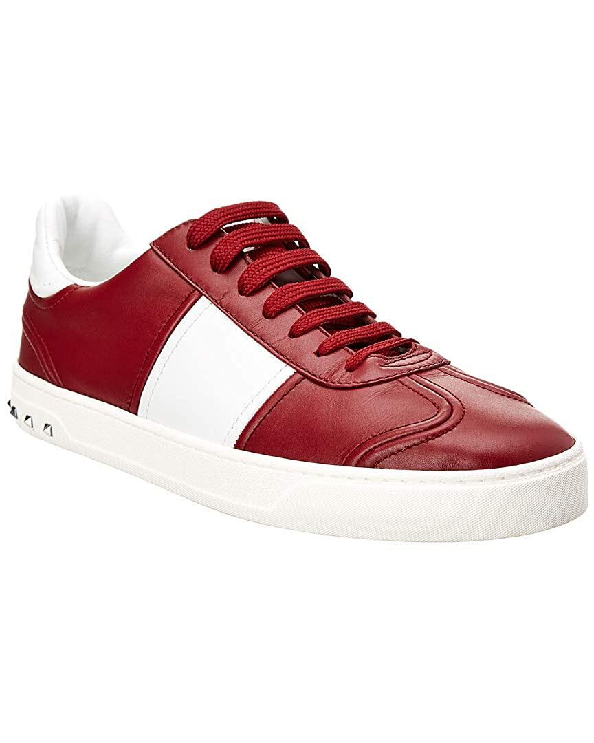 official photos 5cb03 6a39a Amazon.com | VALENTINO Leather Sneaker, 43, Red | Running