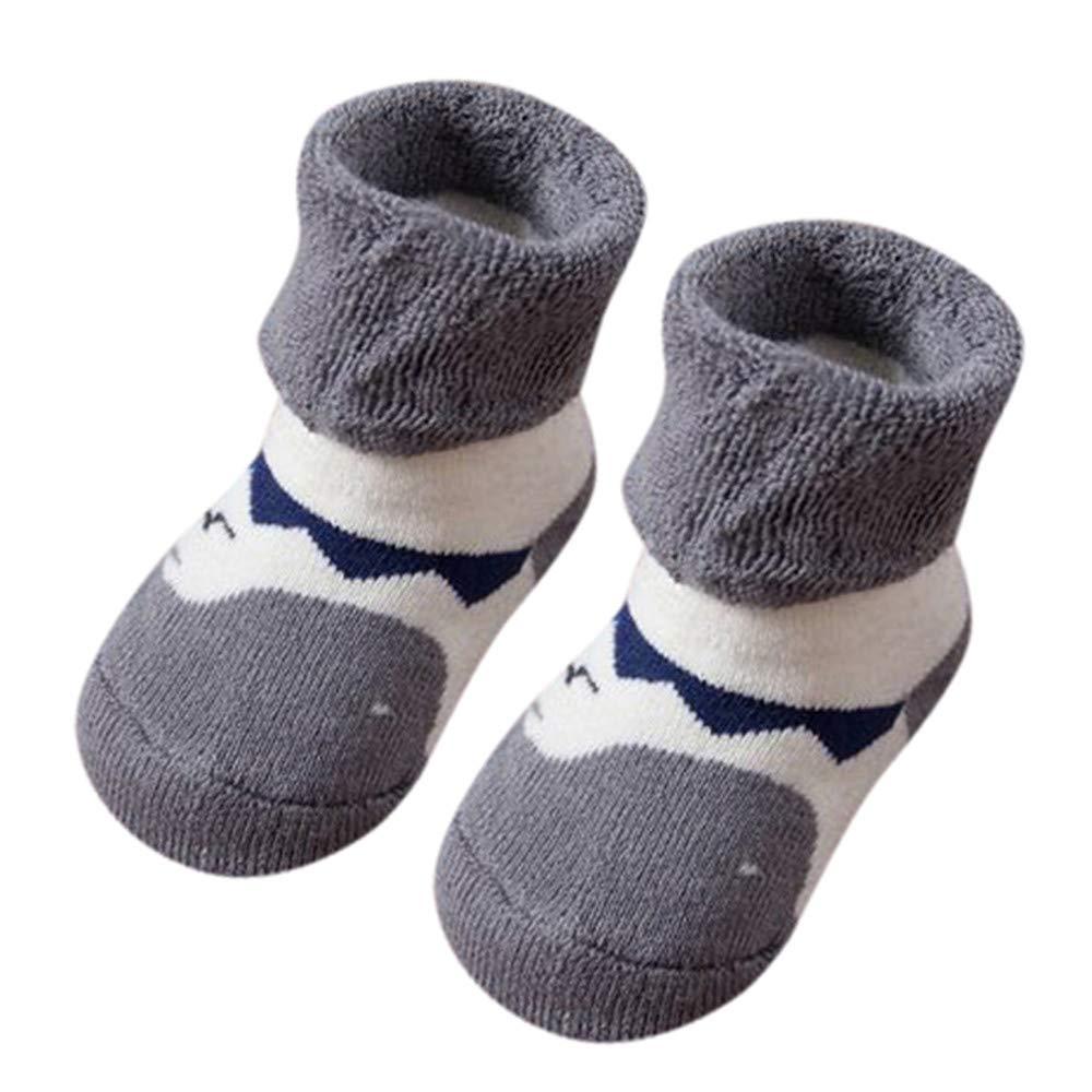 Quelife Kids Toddler Boys Girls Cartoon Animals Printed Anti-Slip Knitted Warm Socks