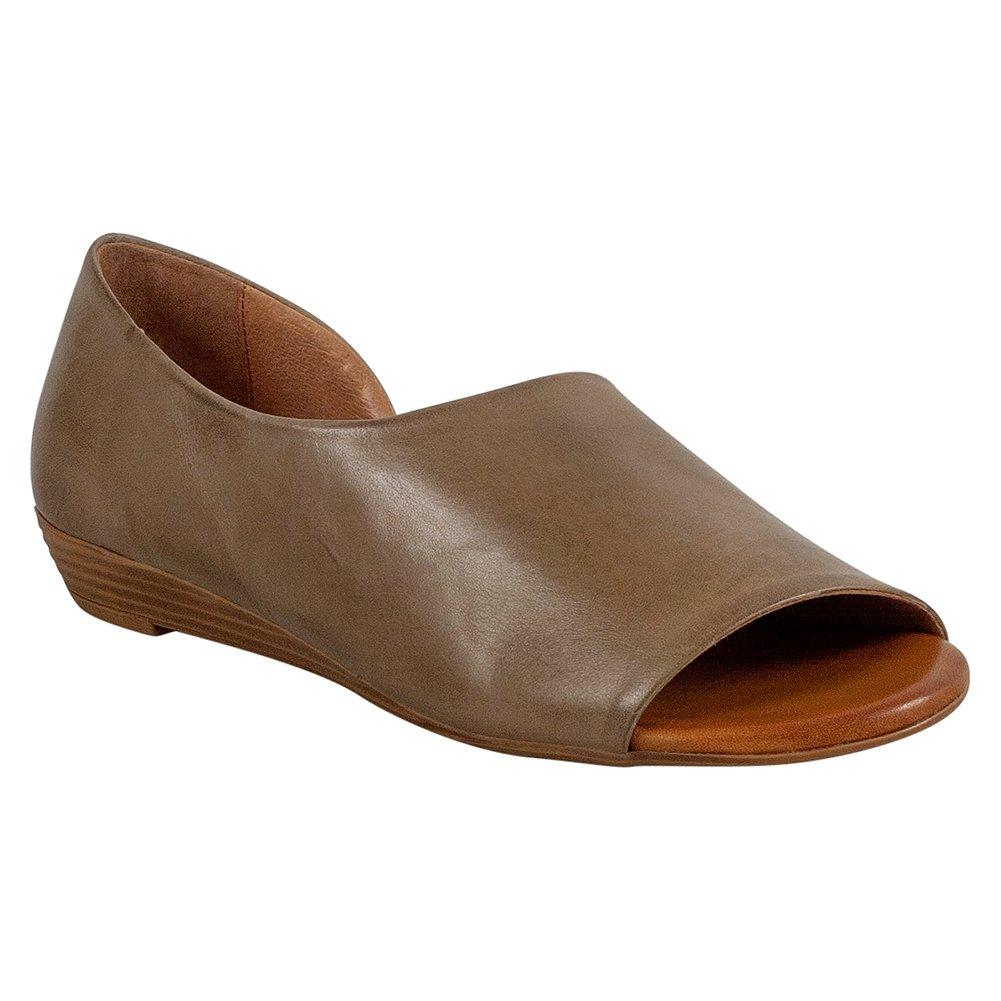 Miz Mooz Women's Allure Flat Sandal, Beige, 40 M EU (9-9.5 US)