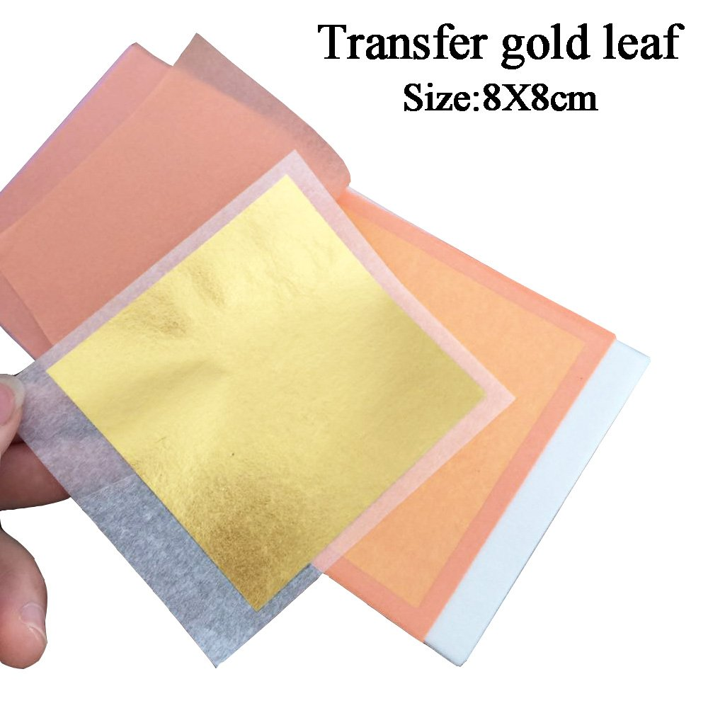 24 Karat Edible Gold Leaf Firm Transfer Sheets by Slofoodgroup (Hard Press Transfer Sheets) 25 Sheets per Book, 3.15 in. by 3. 15 in. Hard Press Transfer Sheets by SLO FOOD GROUP (Image #4)