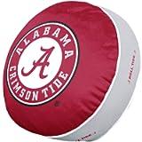 NCAA Team Logo 15 Inch Ultra Soft Stretch Plush Pillow (Alabama Crimson Tide - Team Color)