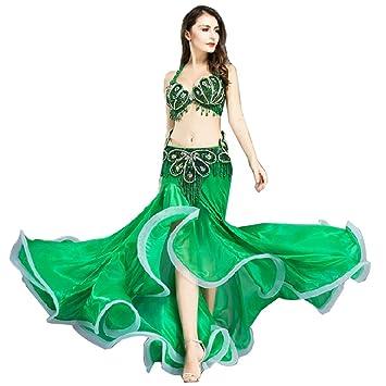 Traje de Danza del Vientre para Las Mujeres Shell Sujetador Falda de Cola de Pescado Traje