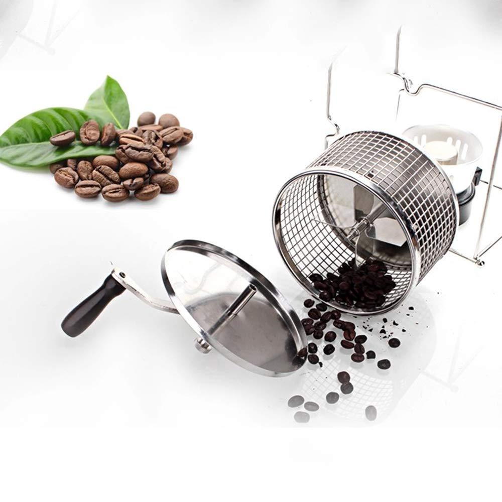 Manual Del Hogar De Secado A Mano Bean Coffee Bean Máquina De Asar Bricolaje Pequeña Máquina De Hornear De Rodillos De Acero Inoxidable: Amazon.es: Jardín