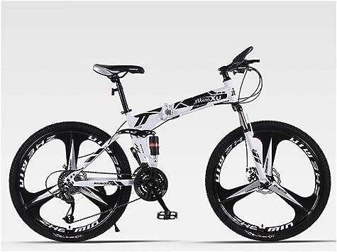 KXDLR Suspensión Plegable Bicicleta De Montaña 24 De Velocidad De ...