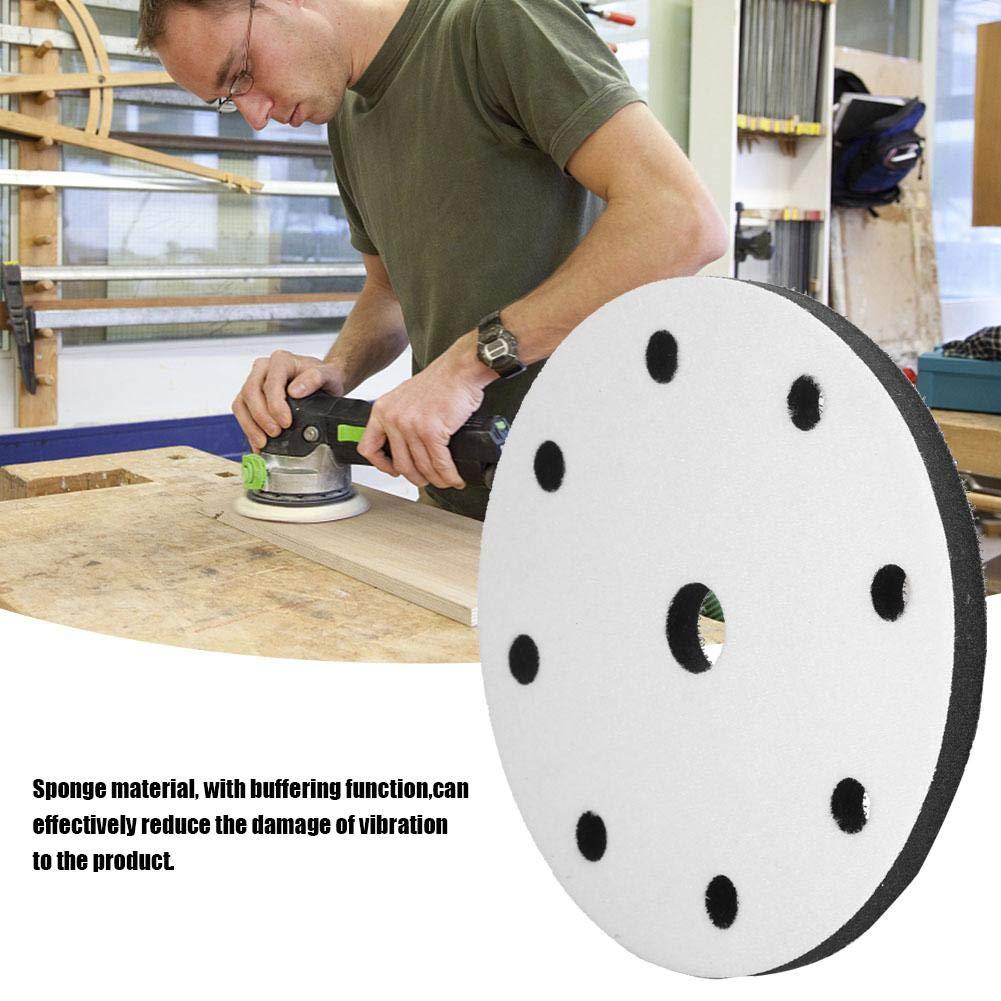 Schwamm-Schleifpads Weiches Puffer-Schwamm-Interface-Polster f/ür Polierglas mit 150 mm Durchmesser 6 holes
