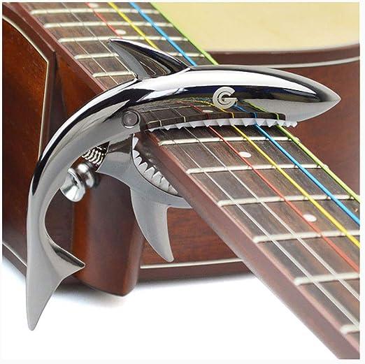 PSTBWYL Metal Guitar Capo para Guitarra Eléctrica Bajo 6 Cuerdas ...