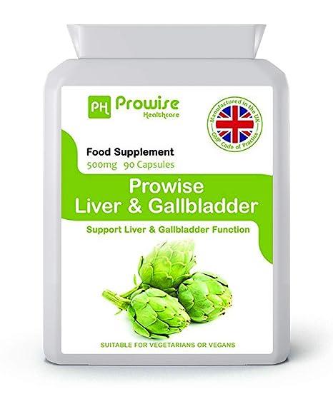 PROWISE LIVER y GALLBLADDER 60 cápsulas, suplemento de apoyo natural ...