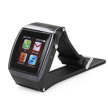 FLY-SHOP Hi Watch-Reloj Bluetooth Smart Watch teléfono 1,55 pulgadas SIM papel de pantalla Anti-FM 0,3MP alarma perdido Podómetro vibrador para Smartphone sistema operativo Android-negro: Amazon.es: Electrónica