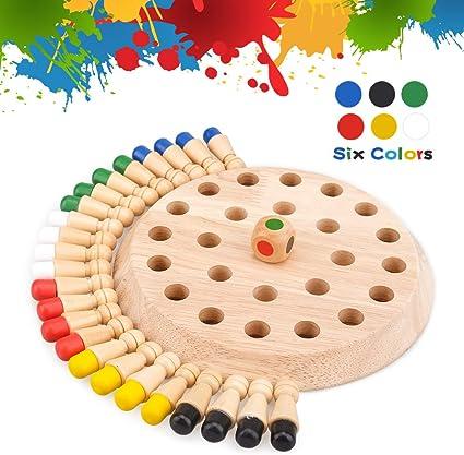 Juegos de mesa para niños de 4 a 5 6 años, juguetes educativos para niños de 5 a 6 7 años, ajedrez para niños, juego de memoria de madera para niños, regalo