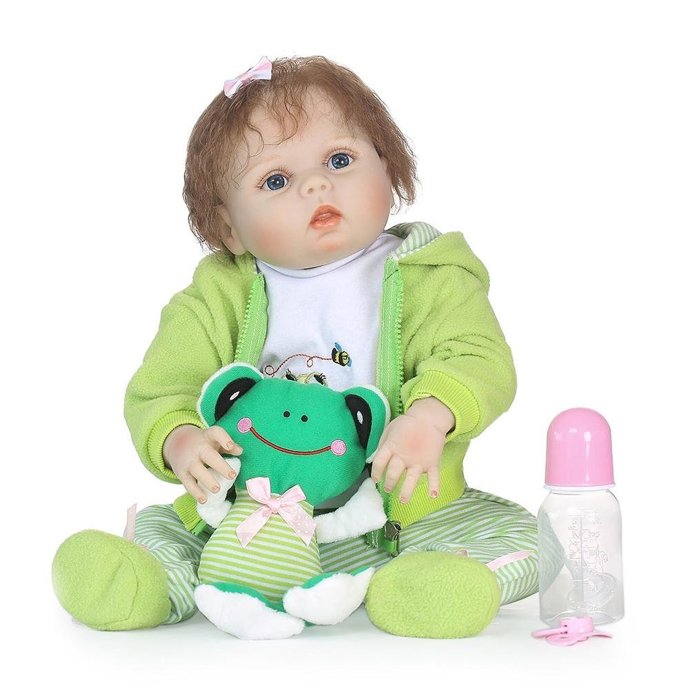 chinatera NPK Waterproof Lovely Soft Silicone 3D Lifelike Simulation Reborn Baby Doll Kids Playmate Doll Toys Gifts by chinatera (Image #1)