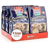 Loacker Quadratini Premium Chocolate Wafer Cookies, 125g/4.41oz., Pack of 6