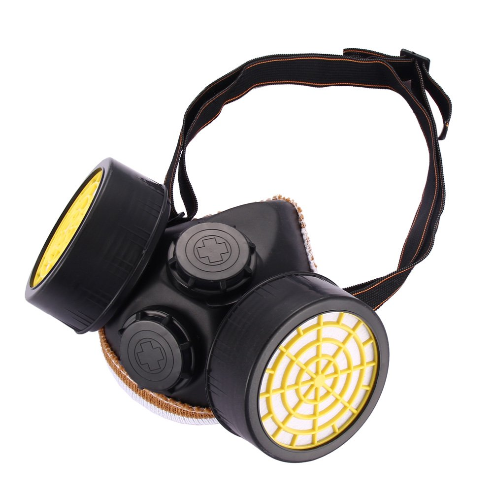 Anti-Dust Spray Paint Industrial Chemical Gas Respirator Mask Glasses Goggles Set