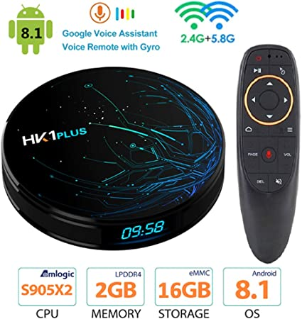 AXDNH Android TV Box, Smart Media Home Box Android 8.1 4 GB de RAM 64 GB