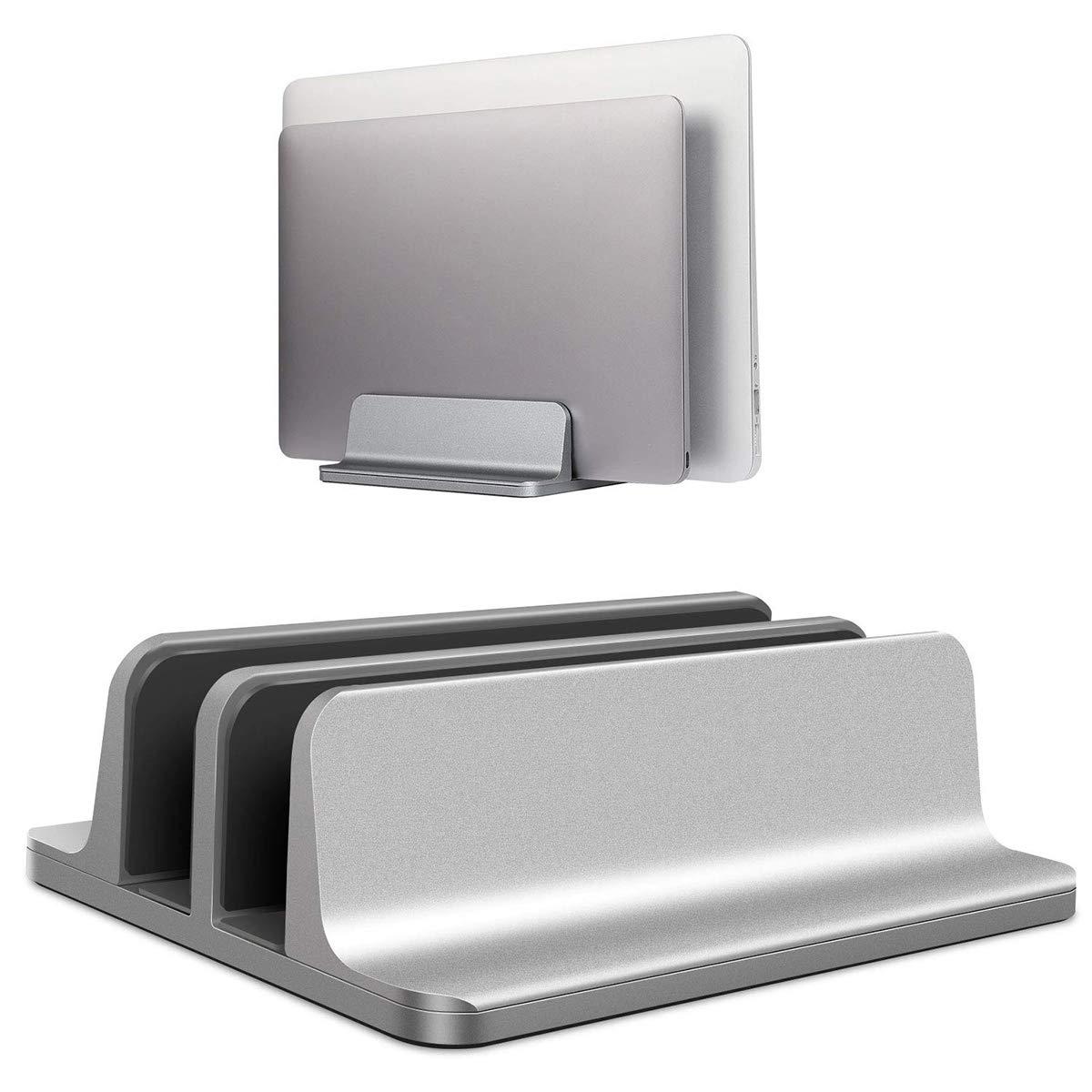 passend f/ür alle MacBook//Surface//Samsung//HP//Dell//Chrome Book bis zu 17,3 Zoll Doppel-St/änder mit verstellbarem Dock BECROWM EU Vertikaler Laptop-St/änder