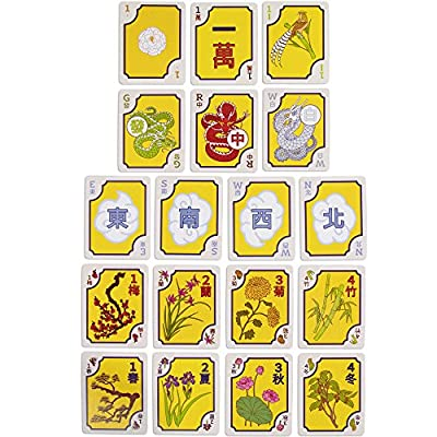 American Mahjong Card Game – The Classic Chinese Tile Game in Playing Card Form - 156-Card Deck for Chinese and Western Game Play - Includes Rules and Travel-Size Deck Box Storage: Toys & Games