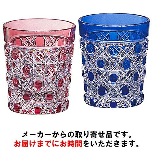 カガミクリスタル 江戸切子 ペア懐石杯(八角篭目紋) 65cc B01LYVNXML