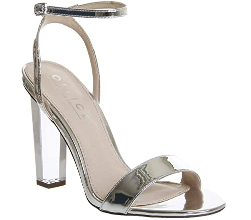 1561984d188 Office Hover Transparent Heel Sandals Silver Mirror - 7 UK  Amazon.co.uk   Shoes   Bags