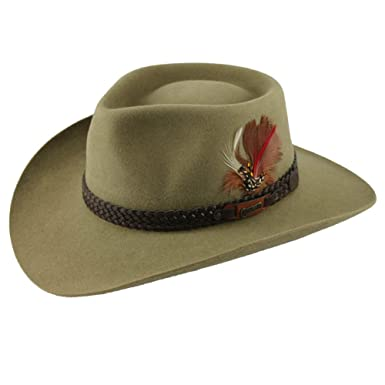 60ded1c8205fc Akubra Snowy River Australian Hat at Amazon Men s Clothing store