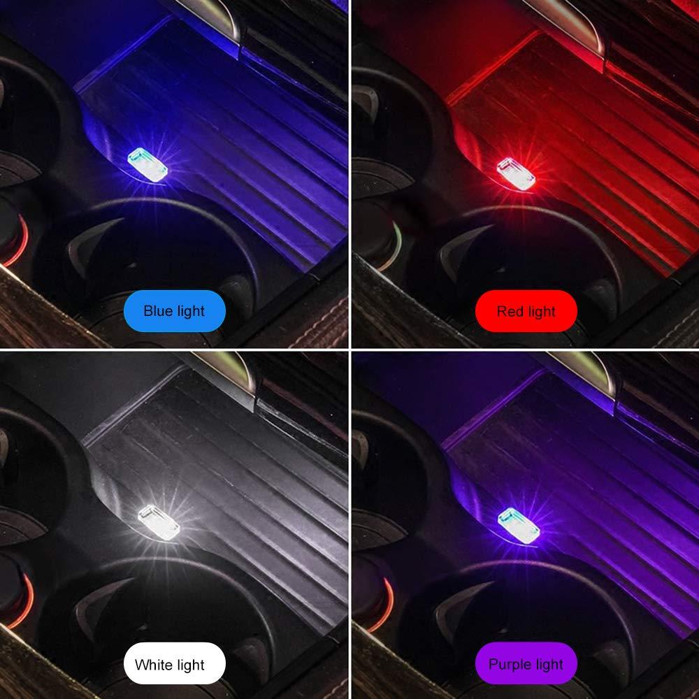 MENGZHEN 1PC Mini Car Interior Ambient Lighting Kit LED Interior Atmosphere Light Feet Lampada Illuminazione Decorazione Light Yellow