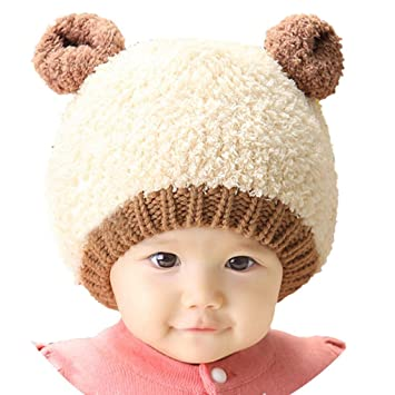b4e5e64ea3c Image Unavailable. Image not available for. Color  Cute Lovely New Kids  Toddlers Baby Boys Girls Infant Winter Earflap Knitted Warm Cap Hat
