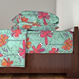 Roostery African 3pc Sheet Set African Julie's Fabric by Juliesfabrics Twin Sheet Set made with
