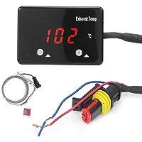 Exhuast Gas Temp Gauge Meter, Akozon Universal Red LED Digital Display Exhaust Gas Temperature Gauge for 12V Vehicle